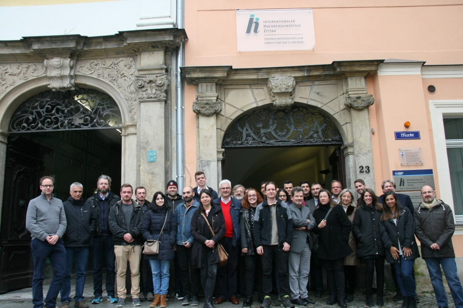 Project Consortium in front of IHI Zittau (Germany)